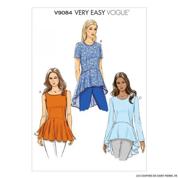 Patron Vogue V9084 : Haut