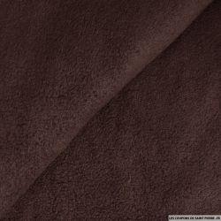 Tissu polaire marron