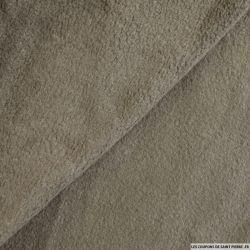 Tissu polaire taupe