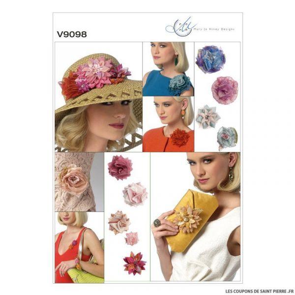 Patron Vogue V9098 : Fleurs et pochette
