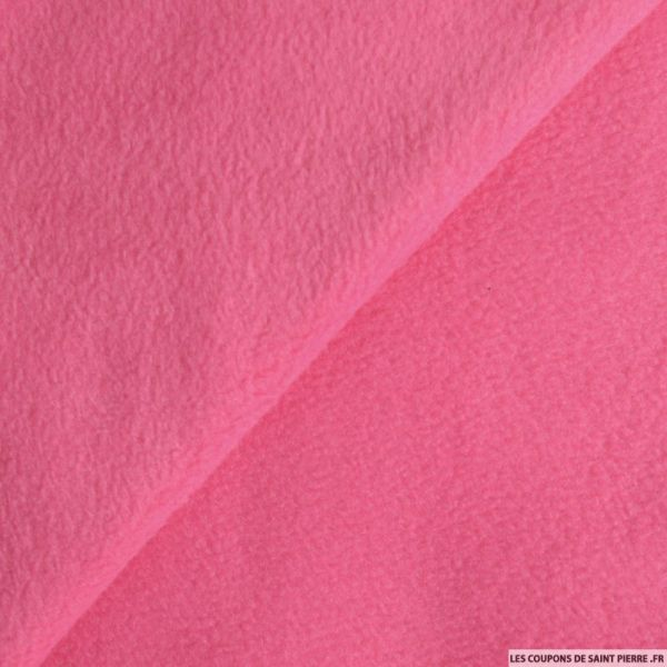 Tissu polaire rose bonbon