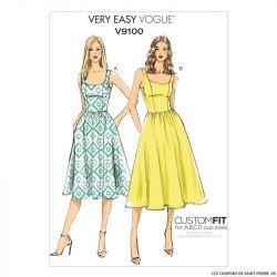 Patron Vogue V9100 : Robe