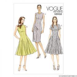 Patron Vogue V9102 : Robe