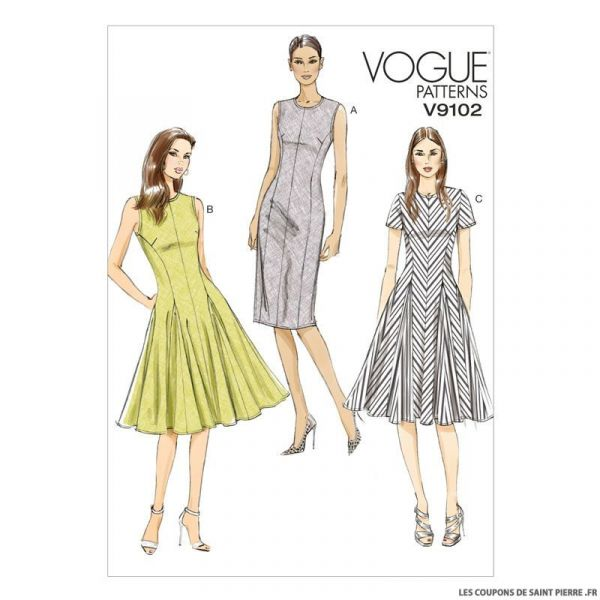 Patron Vogue V9102 : Robe