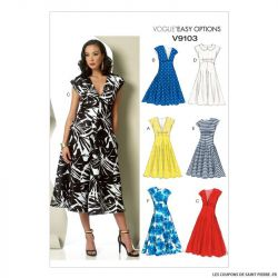 Patron Vogue V9103 : Robe