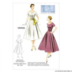 Patron Vogue V9105 : Robe et ceinture