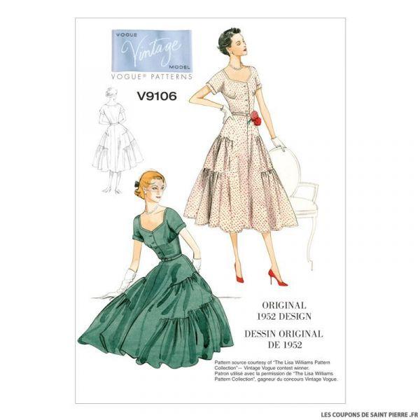 Patron Vogue V9106 : Robe et ceinture