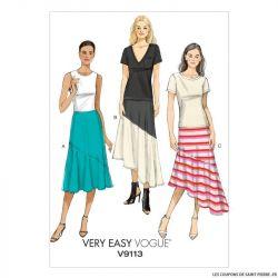 Patron Vogue V9113 : Jupe