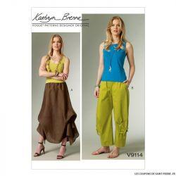 Patron Vogue V9114 : Jupe et pantalon