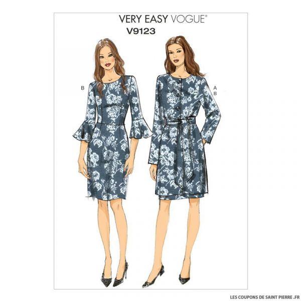 Patron Vogue V9123 : Veste, ceinture et robe
