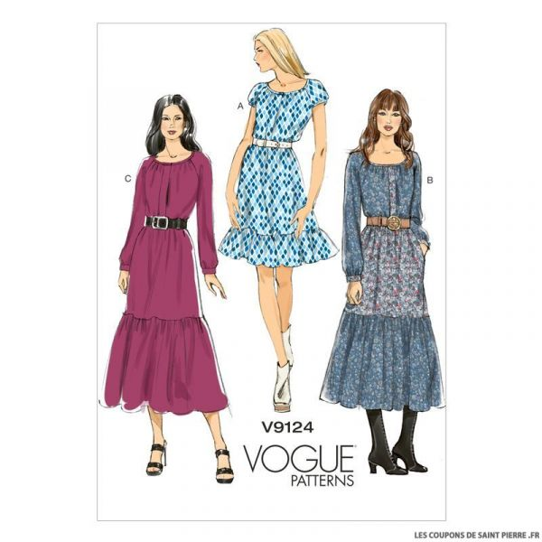 Patron Vogue V9124 : Robe