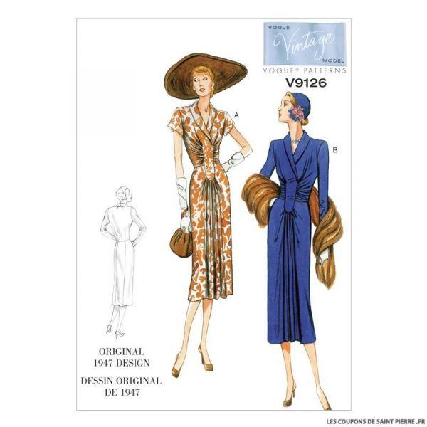 Patron Vogue V9126 : Robe