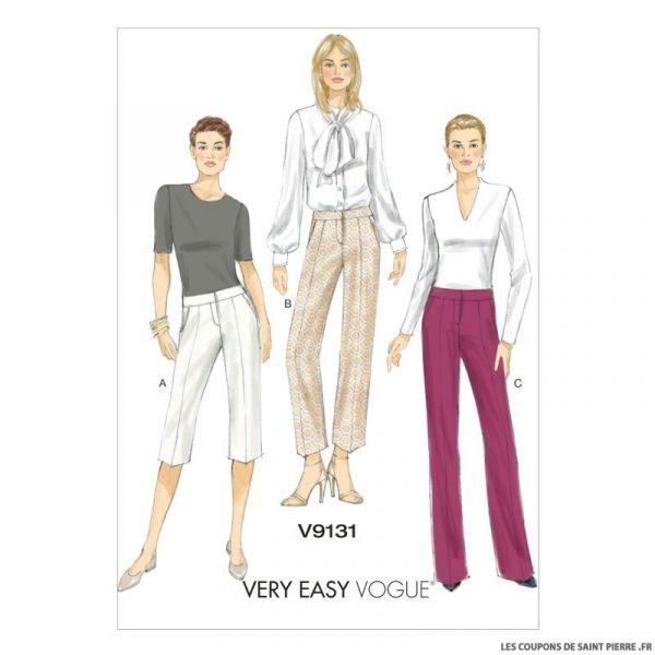 Patron Vogue V9131 : Short et pantalon