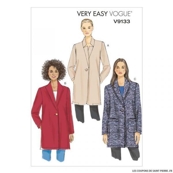 Patron Vogue V9133 : Veste