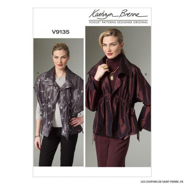 Patron Vogue V9135 : Gilet et veste