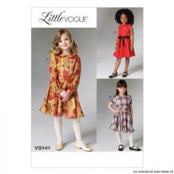 Patron Vogue V9141 : Robe et ceinture fillette