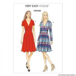 Patron Vogue V9146 : Robe