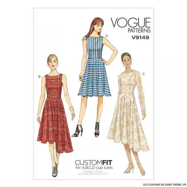 Patron Vogue V9149 : Robe