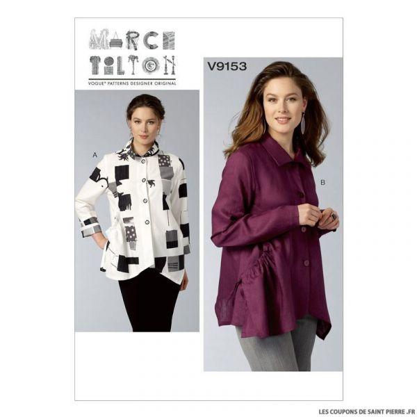 Patron Vogue V9153 : Chemise