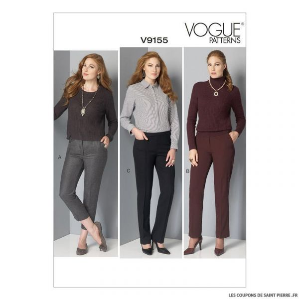 Patron Vogue V9155 : Pantalon