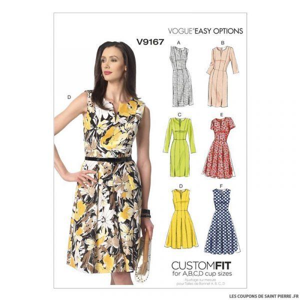 Patron Vogue V9167 : Robe