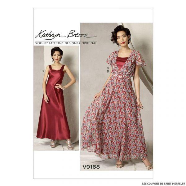 Patron Vogue V9168 : Robe et ceinture