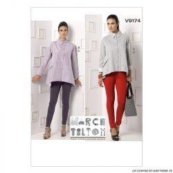 Patron Vogue V9174 : Chemise et pantalon