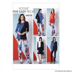 Patron Vogue V9175 : Haut, robe et pantalon