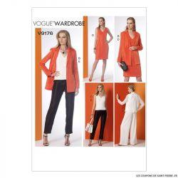 Patron Vogue V9176 : Veste, haut, robe et pantalon