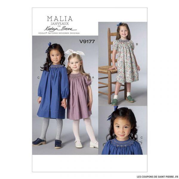 Patron Vogue V9177 : Robe fillette