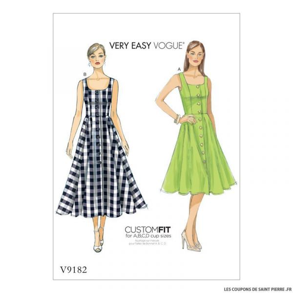 Patron Vogue V9182 : Robe
