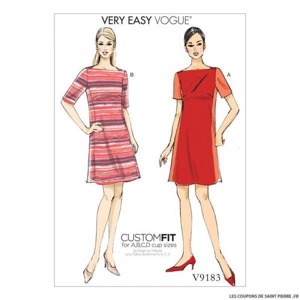 Patron Vogue V9183 : Robe