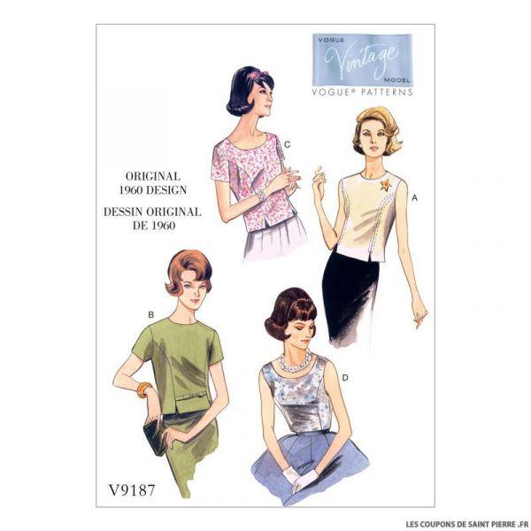 Patron Vogue V9187 : Haut
