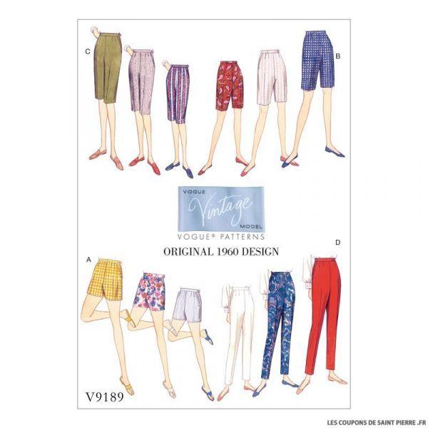 Patron Vogue V9189 : Short et pantalon