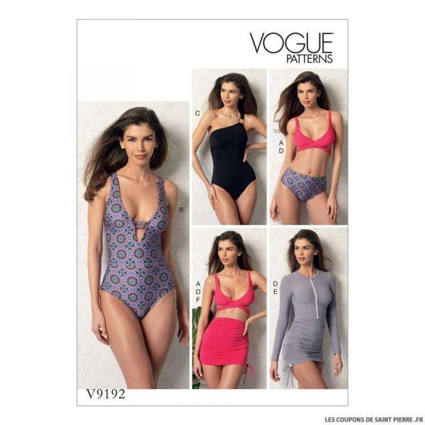 Patron Vogue V9192 : Haut et maillot de bain