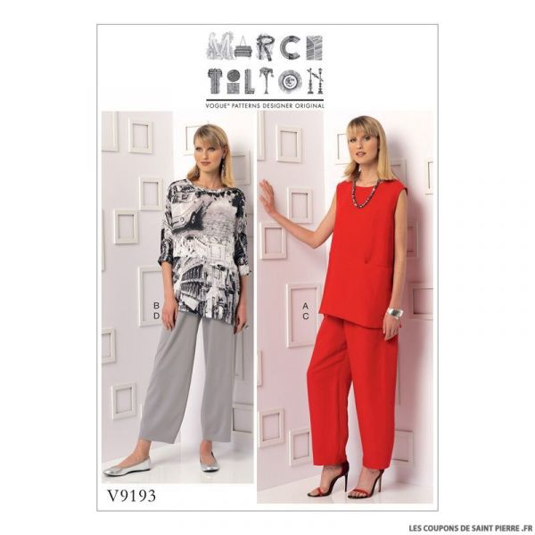 Patron Vogue V9193 : Tunique et pantalon