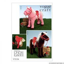 Patron Vogue V9194 : Chevaux pour poupée