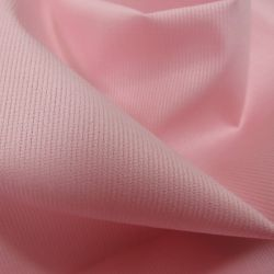 Tissus Piqué de coton milleraies uni rose
