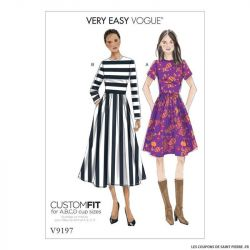 Patron Vogue V9197 : Robe