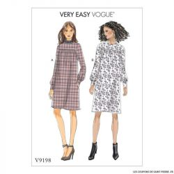Patron Vogue V9198 : Robe