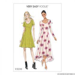 Patron Vogue V9199 : Robe