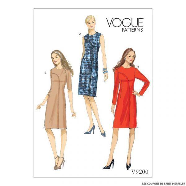 Patron Vogue V9200 : Robe