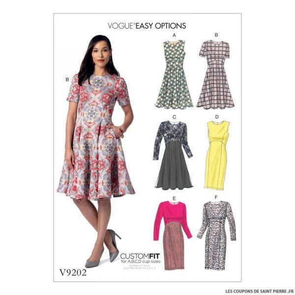 Patron Vogue V9202 : Robe
