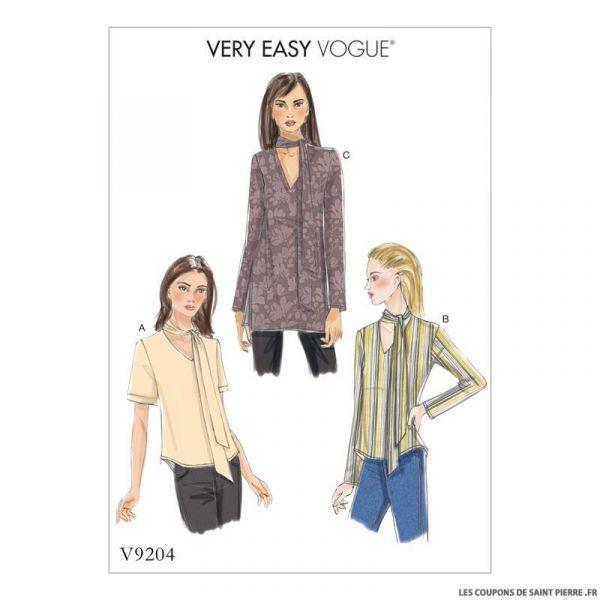 Patron Vogue V9204 : Haut