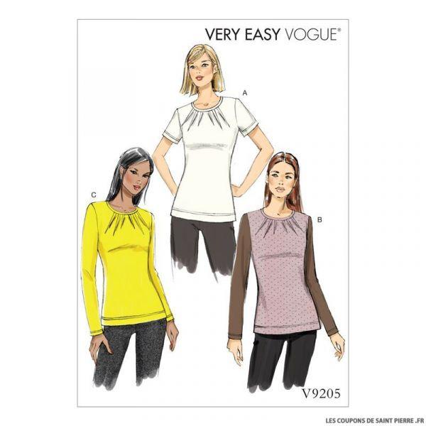 Patron Vogue V9205 : Haut