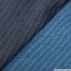 Velours côtelé bleu changeant turquoise