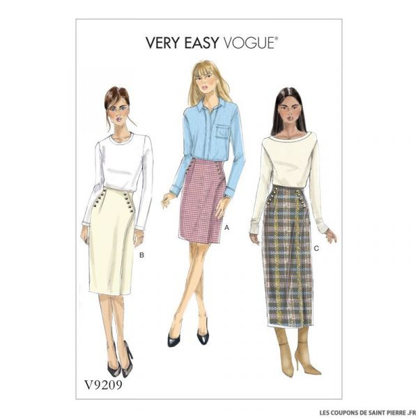 181fe1129c998c Patron Vogue V9209 : Jupe