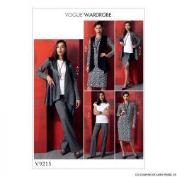 Patron Vogue V9215 : Veste, haut et robe