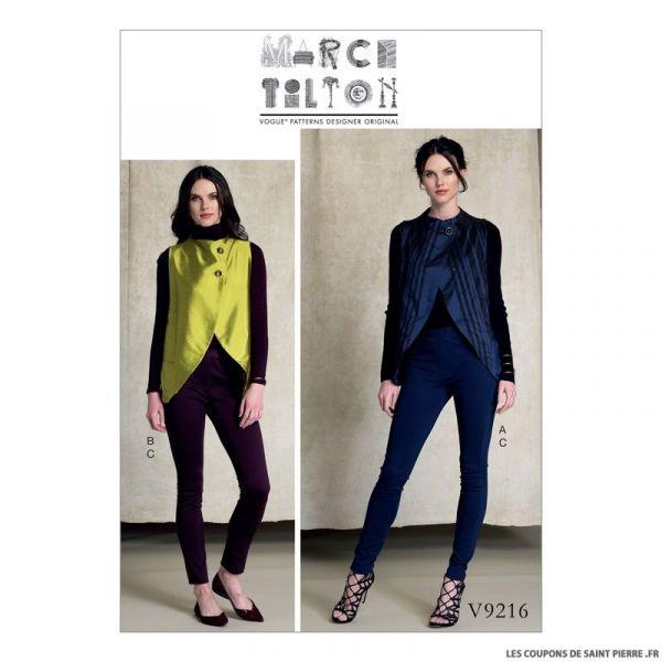 Patron Vogue V9216 : Gilet et pantalon