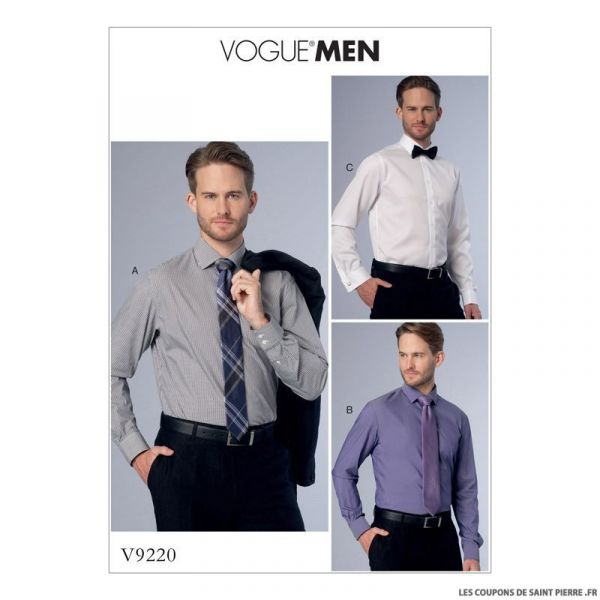Patron Vogue V9220 : Chemise